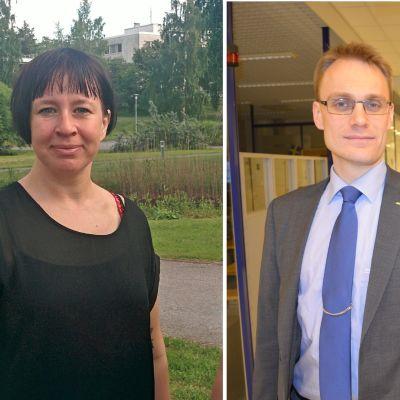 Tisdagssnackarna Ylva Larsdotter och Oscar Taimitarha.