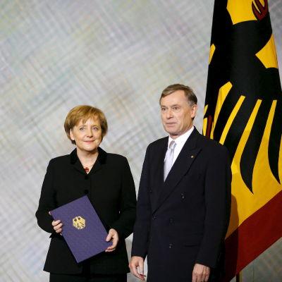 En nyvald Angela Merkel år 2005