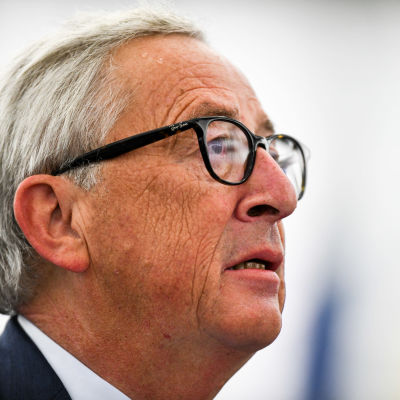 Jean-Claude Juncker fotad i halvprofil.