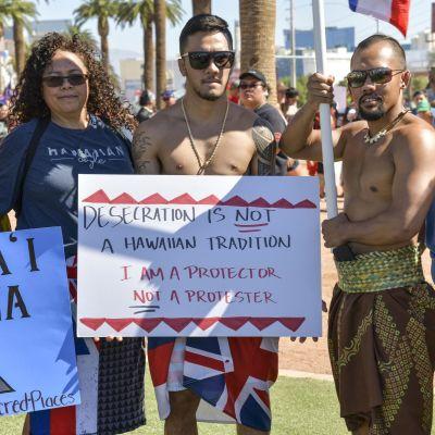 Demonstranter i Las Vegas