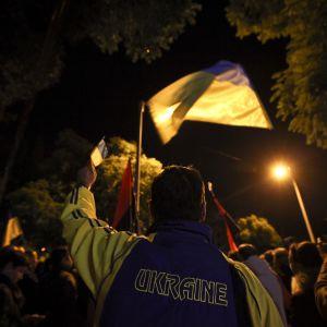Protesterna fortsätter i Ukraina