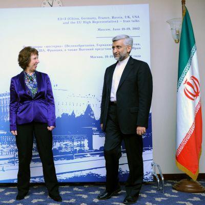 Catherine Ashton och Irans förhandlare  Saeed Jali i Moskva 18.06.12li