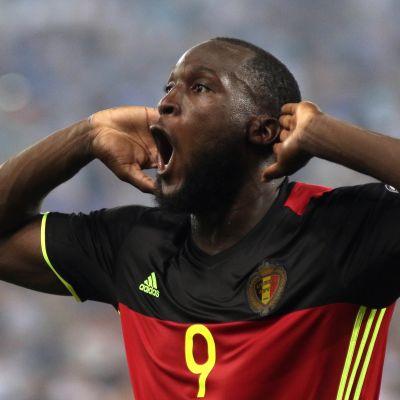 Romelu Lukaku spelar landslagsfotboll för Belgien.