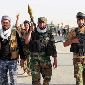 Shiamuslimska milismän angriper som bäst staden Tel Afar väster om Mosul. Jihadisternas förbindelser mellan Mosul och Raqq bryts om eller när staden intas
