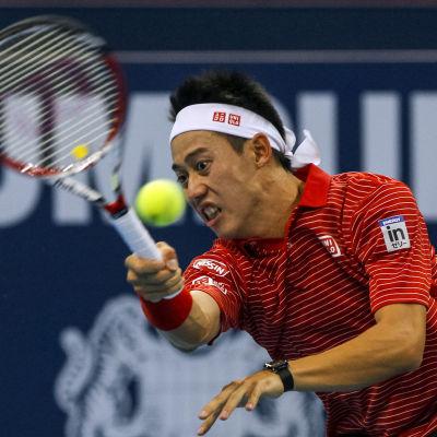 Kei Nishikori vid Malaysia Open 2014.