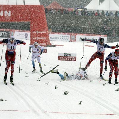I lördagens stafetter i Otepää gick växlingarna inte problemfritt.