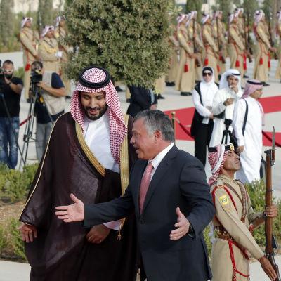 jordaniens kung och saudiarabiens försvarsminister
