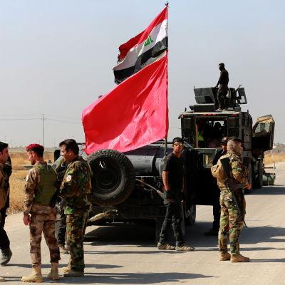 iraks armé utanför mosul
