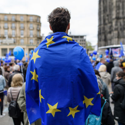 En proeuropeisk demonstration i Köln 23.4.2017