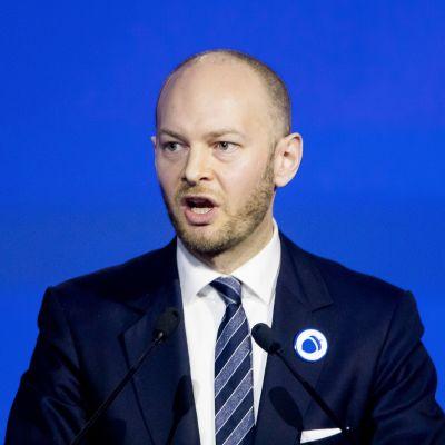 Politikern Sampo Terho (Blå framtid).