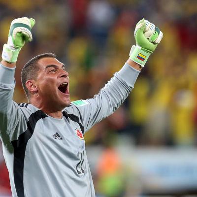 Faryd Mondragon, målvakt i Colombias fotbollslandslag, är VM-historiens äldsta spelare.