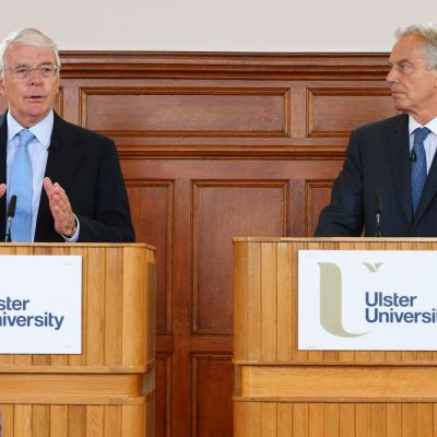 John Major och Tony Blair