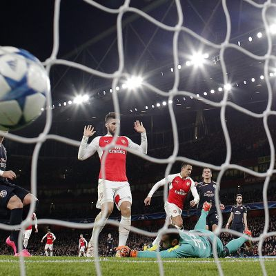 Alexis Sanchez gör mål, Arsenal-Dinamo Zagreb, hösten 2015.