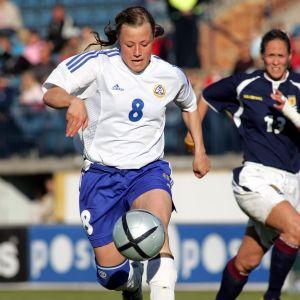 Jessica Thorn i EM-2005 mot Skottland.