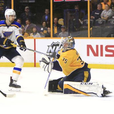 Pekka Rinne ledde Predators till seger.