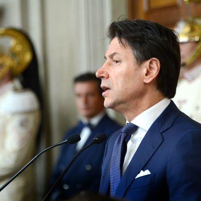 Italiens premiärminister Giuseppe Conte i Rom den 29 augusti 2019.