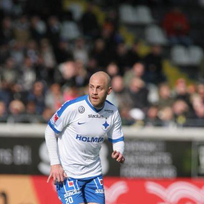 Daniel Sjölund Norrköpingin paidassa.