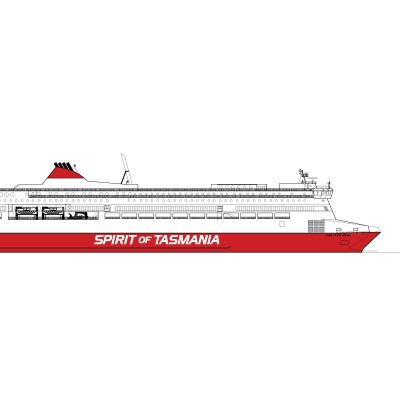 Spirit of Tasmania skissbild