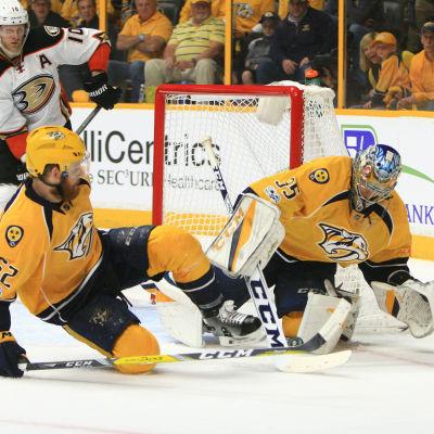 Pekka Rinnes Nashville föll efter förlängning i den fjärde konferensfinalen mot Anaheim.