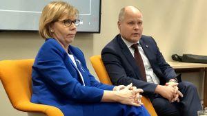 Två justitieministrar möter allmänhet på Hanaholmen.
