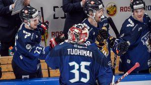 Frans Tuohimaa i landslaget.