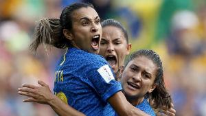 Brasiliens lag jublar.