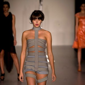 Modeller i en modeshow som motarbetar anorexi