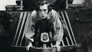 Buster Keaton elokuvassa Kenraali (1926).