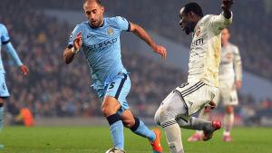 Seydou Doumbia tvåmålsskytt för CSKA Moskva i 2-1 segern över Manchester City i Champions League.