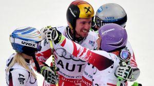 Österrike vann guld i lagtävlingen