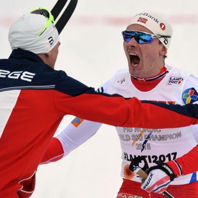 Finn Hågen Krogh avgjorde stafettguldet för Norge.