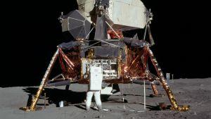 Neil Armstrong på månen.