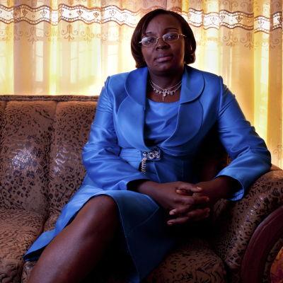 Victoire Ingabire år 2010, samma år som hon dömdes till 15 års fängelse för att ha konspirerat mot regeringen