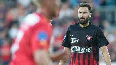 Tim Sparv i FC Midtjylland våren 2018.