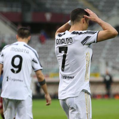 """Cristiano Ronaldon 2-2-maali toi Juventukselle """"vain"""" tasapelin."""