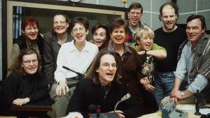 Borgåredaktionen i december 1998.