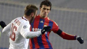 Romans CSKA fick med sig en poäng från hemmamatchen mot AS Roma.