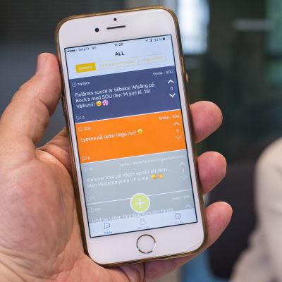 Mobilappen Soufi på en smarttelefon