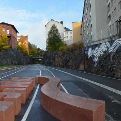 Cykelstråket Baana i Helsingfors