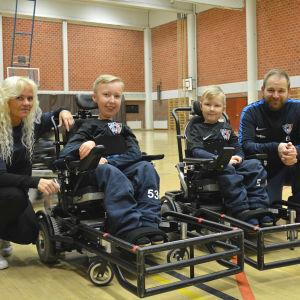 Ewa, Alex, Aaron och Erik Lundell.