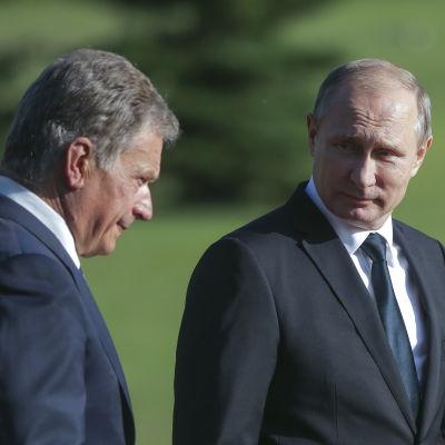 Sauli Niinistö och Rysslands president Vladimir Putin.