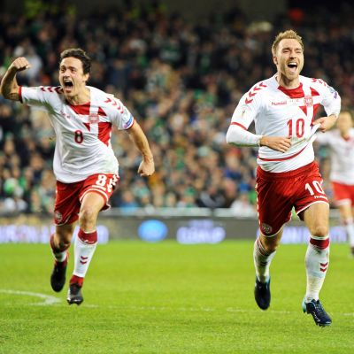 Danmark avancerade till VM-slutspelet i fotboll.