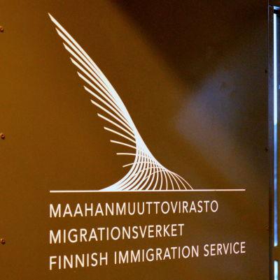 Migrationsverkets dörr i Reso.