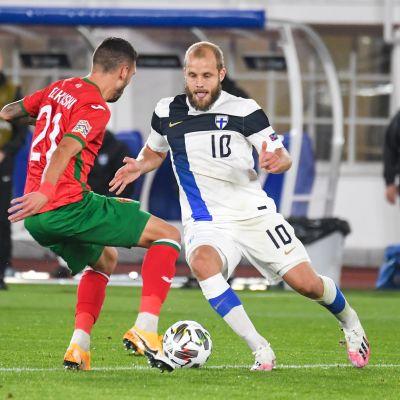 Teemu Pukki Bulgariaa vastaan 11.10.2020.