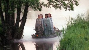 Haltijat lähtevät Zadariasta (Elina Aalto, Pinja Hahtola, Mervi Takatalo ja Ilona Nevalainen).