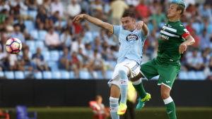 Leganés i grönt vann sin första match i La Liga i fotboll.