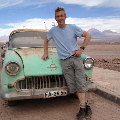 Stefan randström på ett av sina uppdrag i Peru.