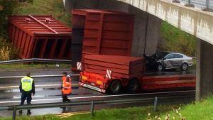 Trafikolycka på riksväg 25 i Formanshagen