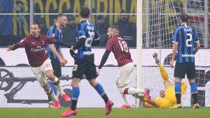 Zlatan Ibrahimovic gjorde mål för AC Milan.