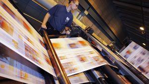 Alma Medias tryckpress.